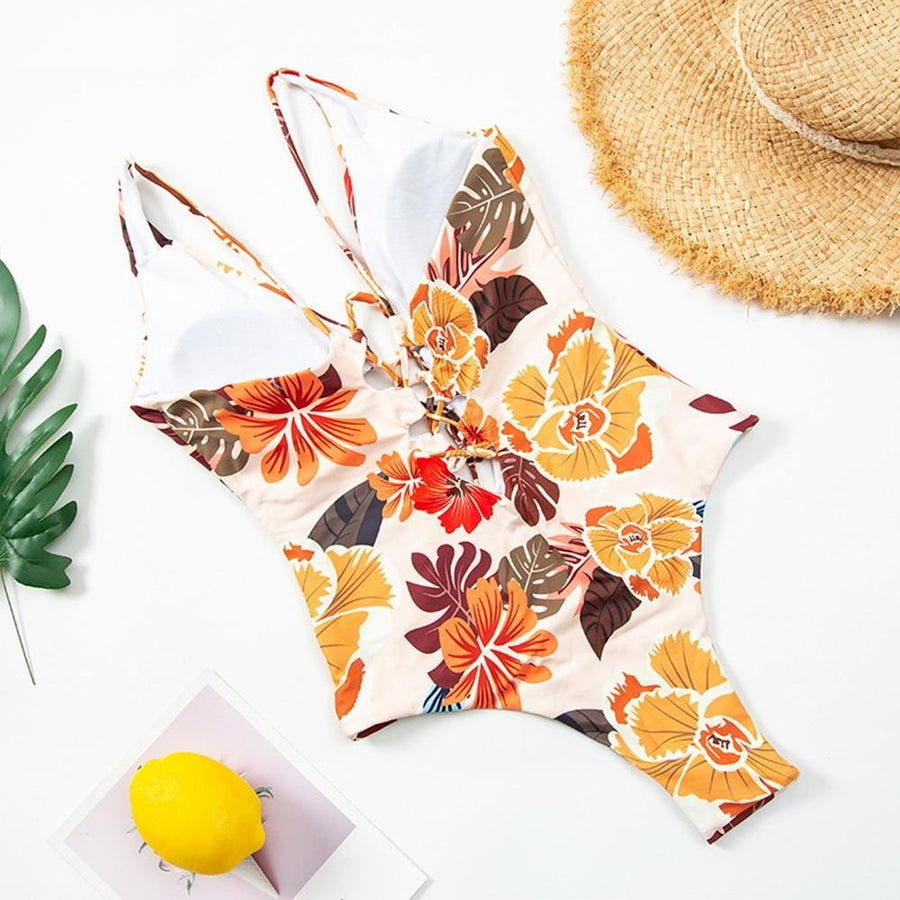 Naome Floral Cut-Out One-Piece Swimsuit