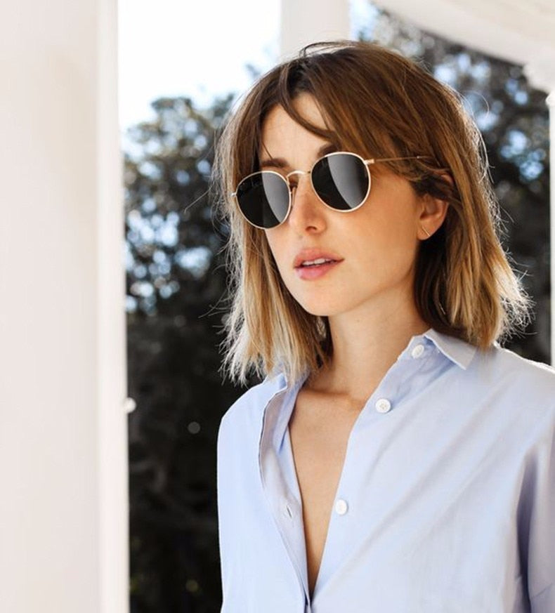 Xenia Retro Round Mirror Sunglasses