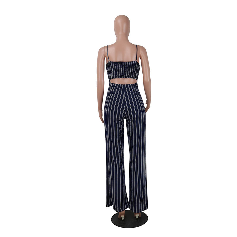 Bailey Striped Bow Jumpsuit