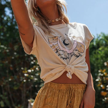 Cosmic Dream Boho Print T-Shirt