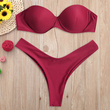 Mila Red Brazilian Bikini Set