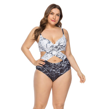 Autumn Retro Plus Size Swimsuit