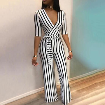 Hatice Striped Jumpsuit