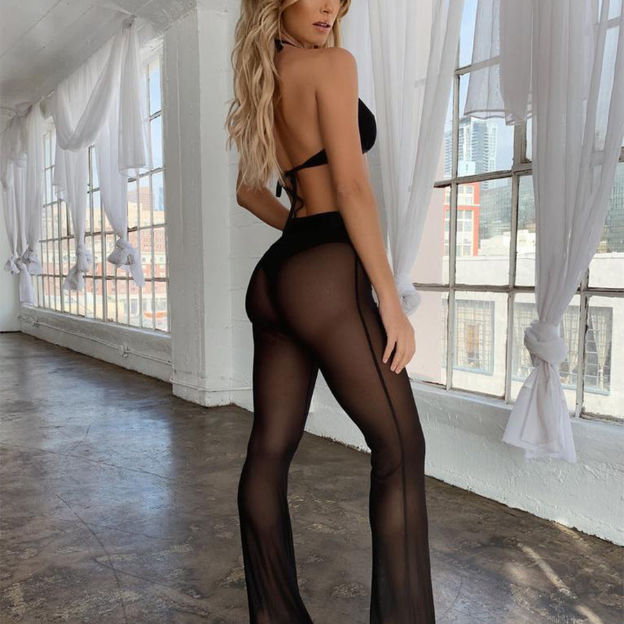 Diamond Black Long Cover-Up Pants