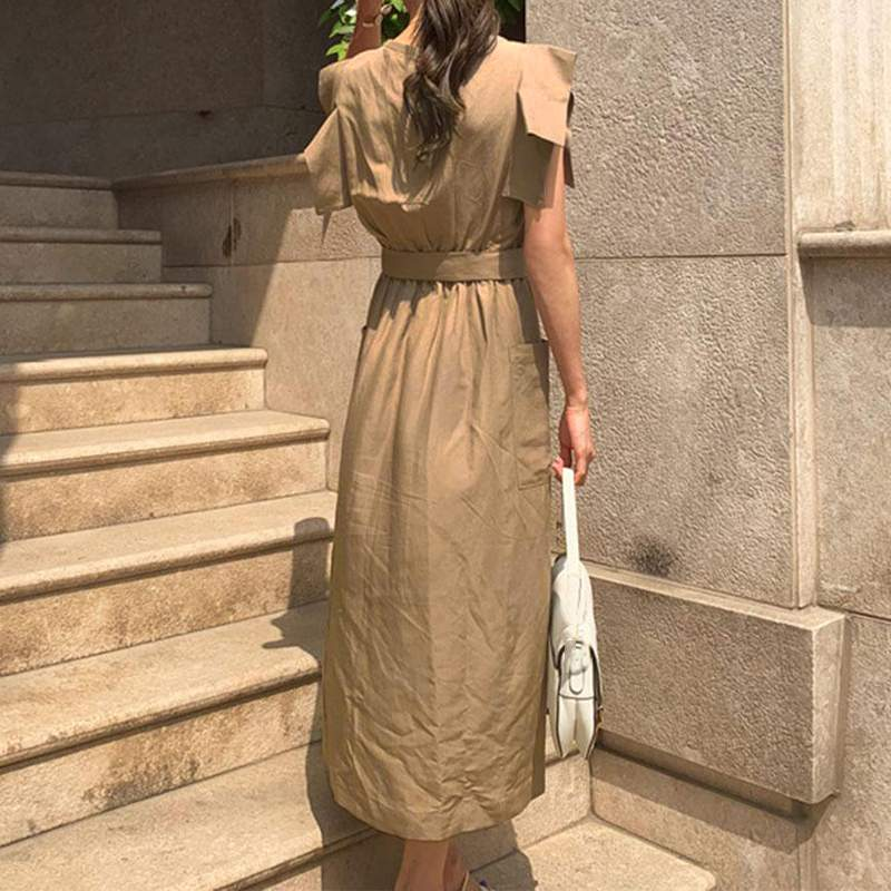 Dixie Ruffle Maxi Long Dress