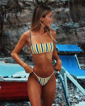 Meaghan Striped Bikini Set