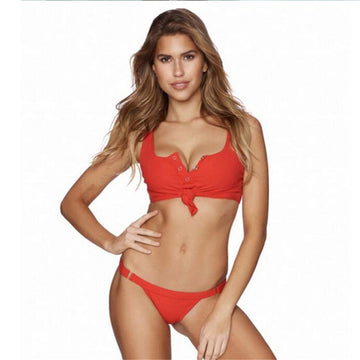 Claudia Red Knotted Bikini Set