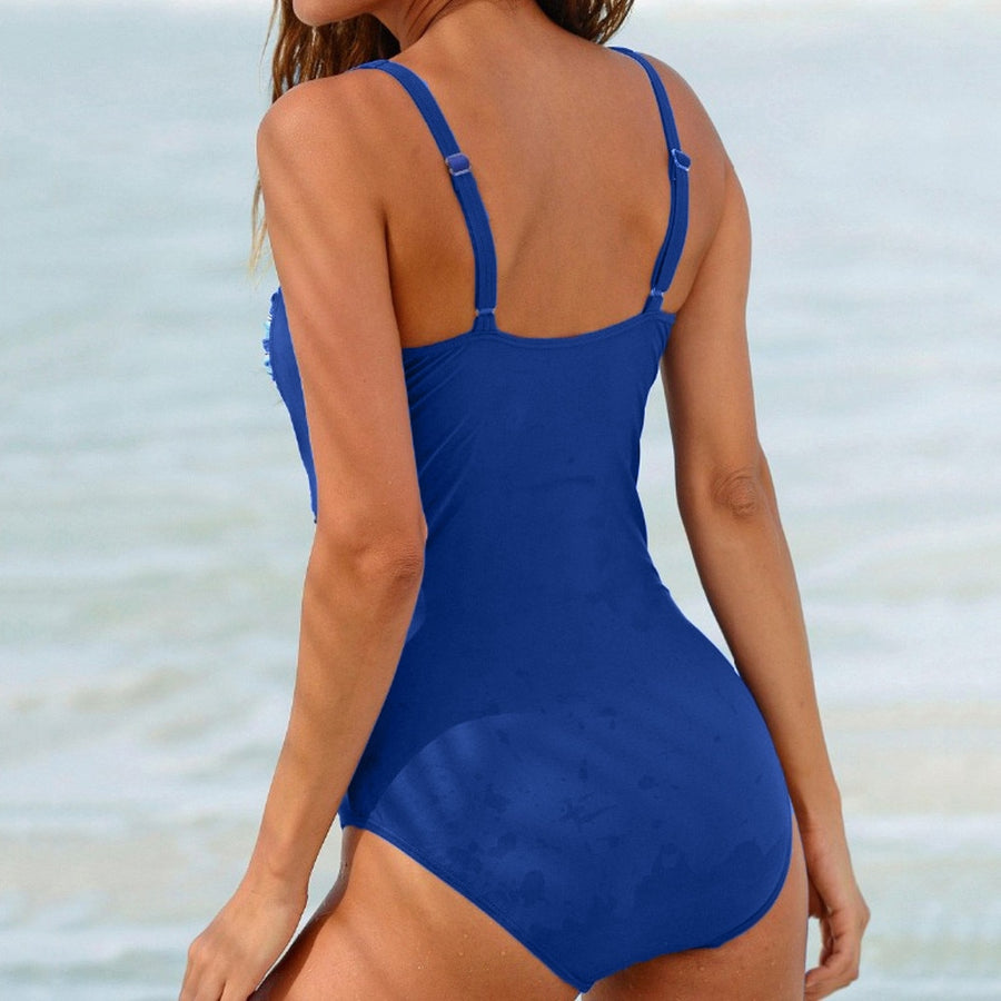 Nevaeh Wrap V-Neck One-Piece Swimsuit