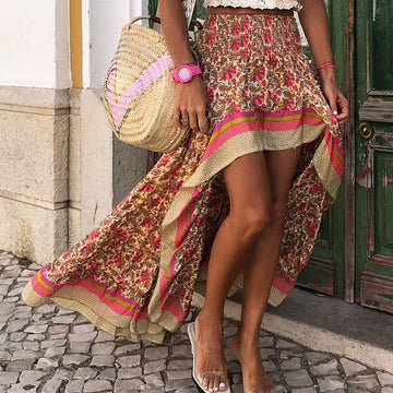 Hermione Boho Print Long Skirts