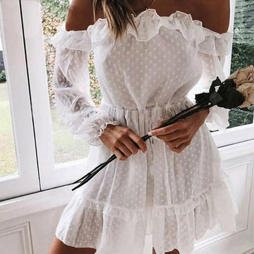 Reese White Off Shoulder Mini Dress