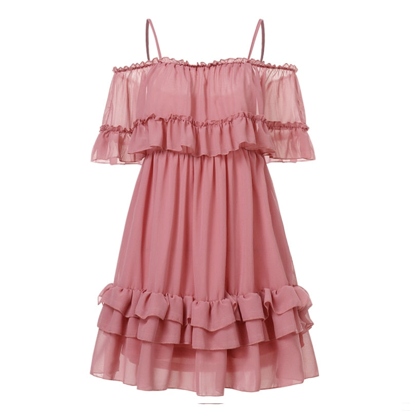 Nikita Pink Ruffles Dress