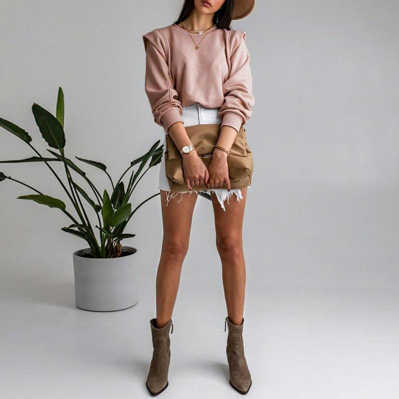 Pink Double Sleeved Sweater