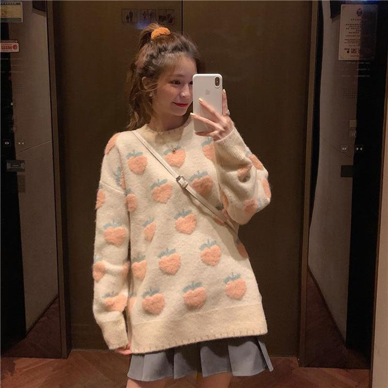 Peaches 'n Cream Cashmere Oversized Sweater