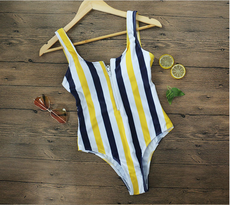 Piper Yellow Stripe One-Piece Swimsuit