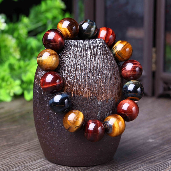 Natural Tiger Eye Stone Crystal Bracelet