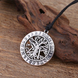 Wicca Viking Tree Of Life Necklace Pendant