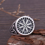 Silver Awe of Tray Viking Ring