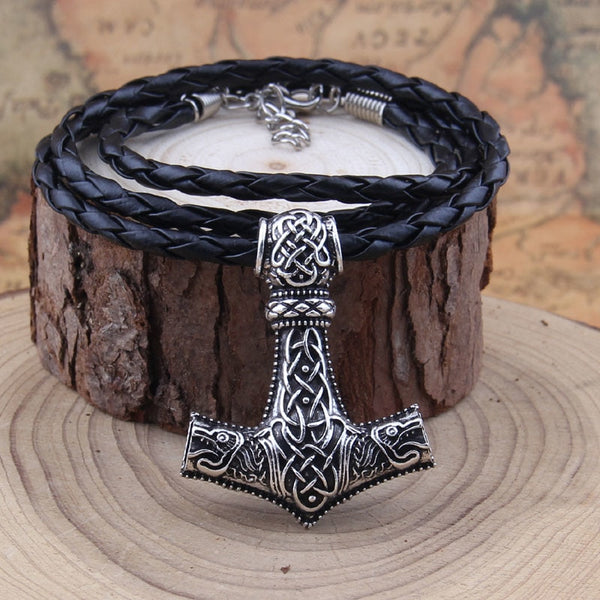 Wolf Viking Hammer Necklace