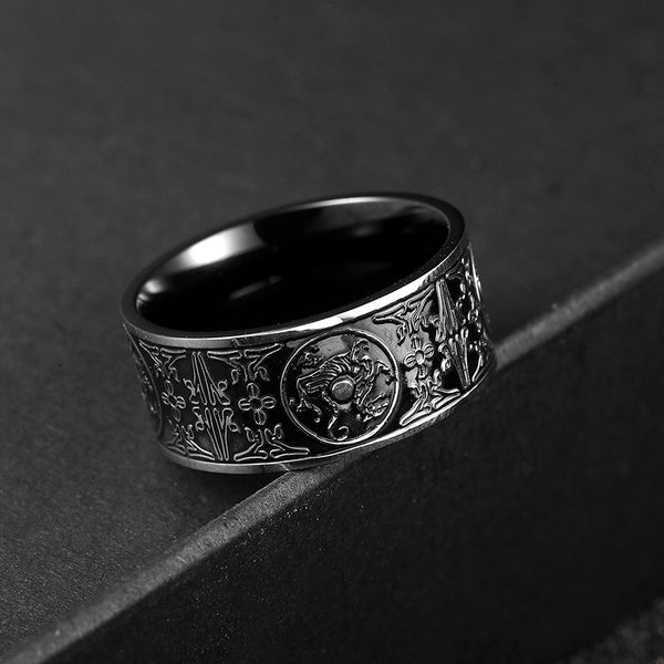 Black Ancient Stainless Steel Ring