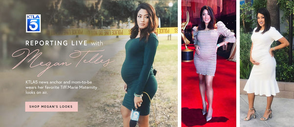 Megan Telles wears Tiff.Marie Maternity for her Stylish Pregnancy