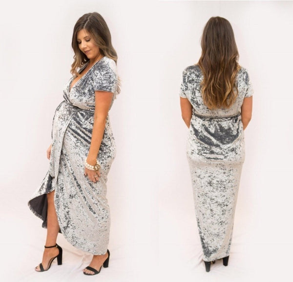 The Bianca Maternity Dress (Silver)