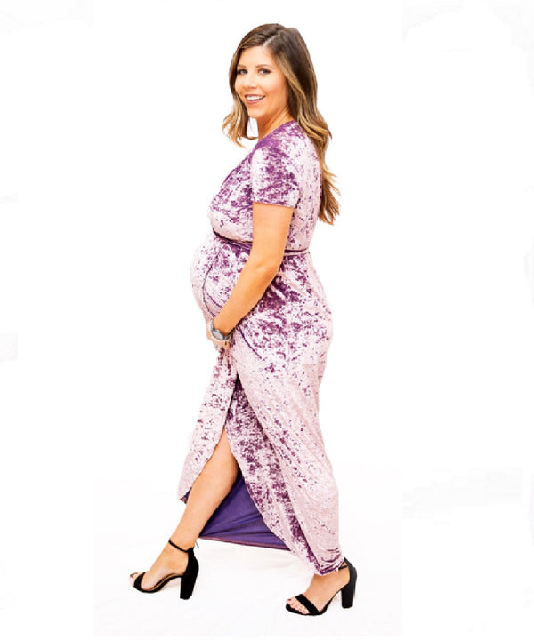 The Bianca Maternity Dress (Violet)
