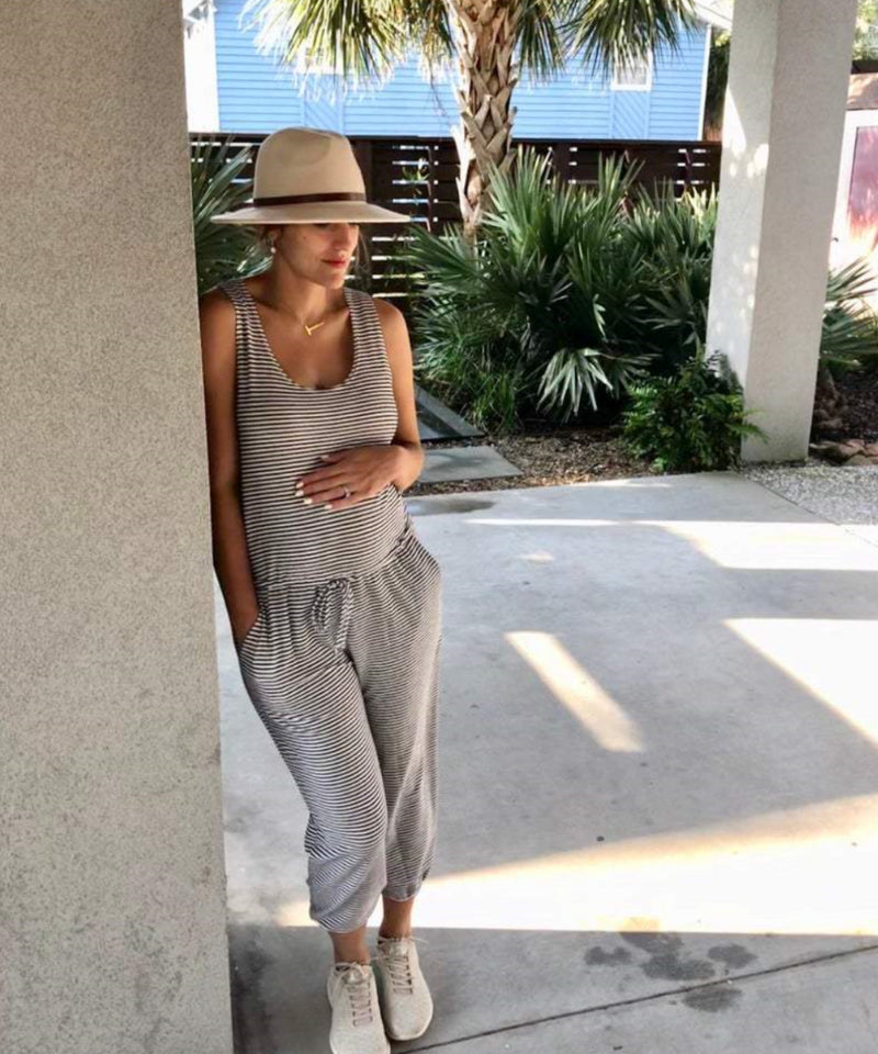 The Brooklyn Maternity Jumpsuit (Striped)