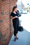 The Gia Maternity Jumpsuit (Black)