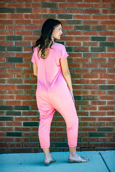 The Gia Maternity Jumpsuit (Coral)