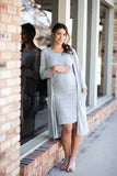 The Khloe Maternity Set Dress (Gray)