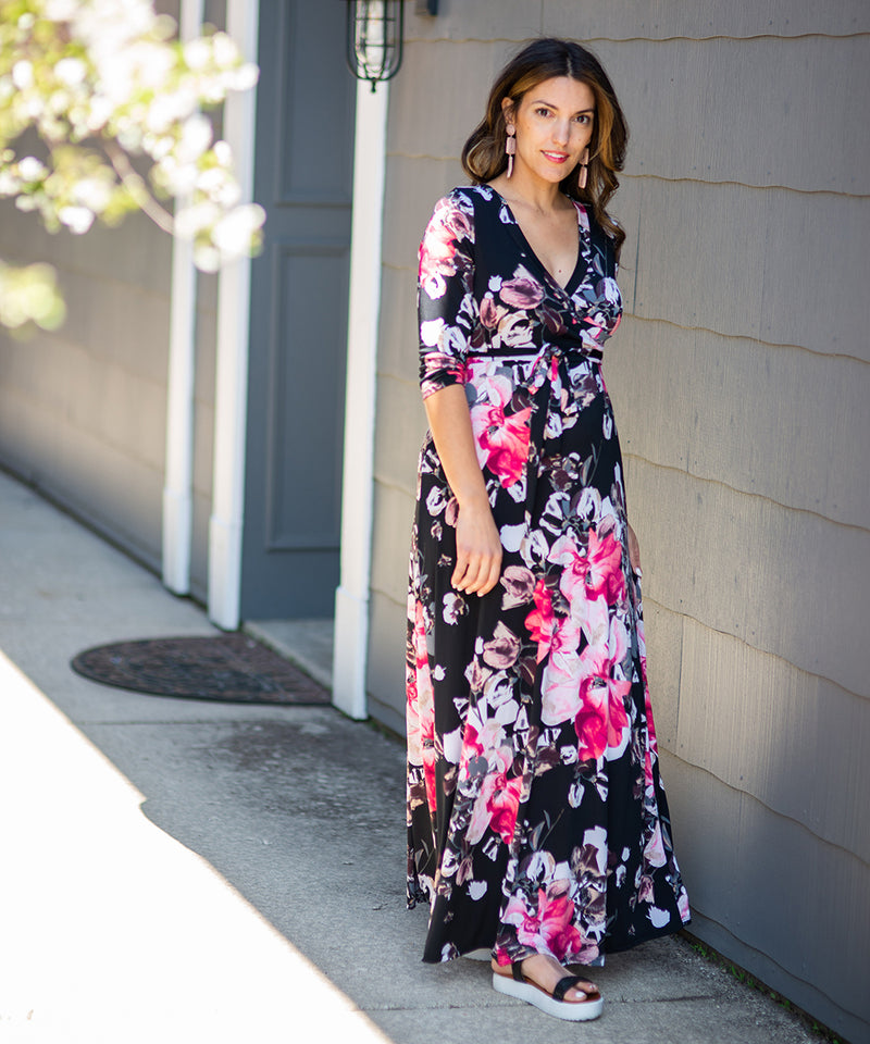The Maria Maternity Maxi Dress