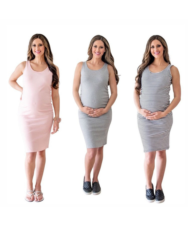 The Tank Maternity Dress (3 Colors)