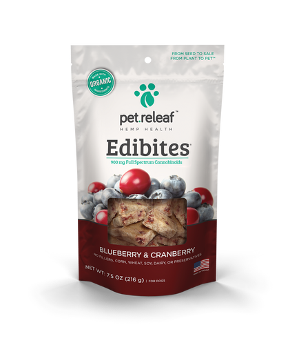 Pet Relief Edibites for Small Breeds – Blueberry Cranberry Edibites