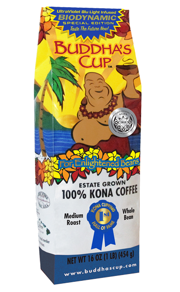 100 percent Kona Coffee-UltraViolet Blu Light Infused-Limited Supply