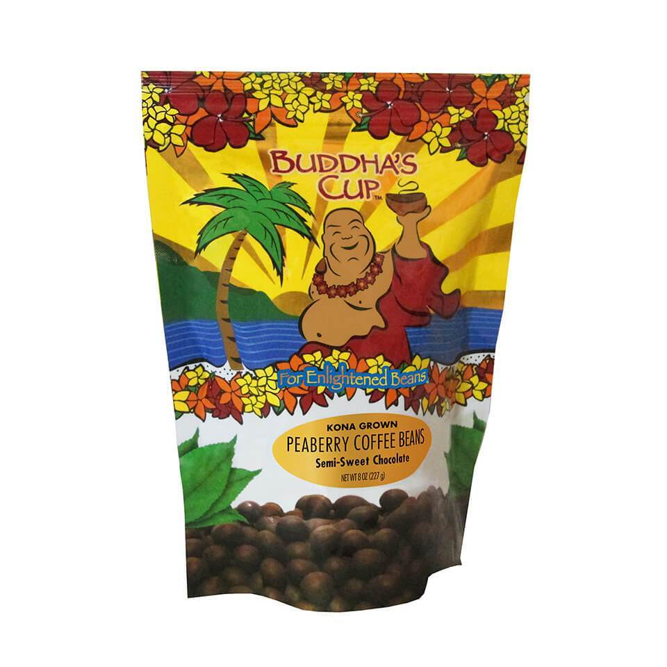 Buddha's Cup: Chocolate Covered Kona Peaberry Coffee Beans:  Auto renew