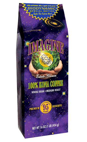 100 percent Kona Coffee-UltraViolet Blu Light Infused
