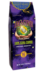 Imagine 100 percent Kona Coffee-UltraViolet Blu Light Infused