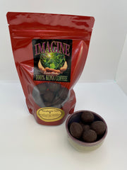 Chocolate Covered Coffee Infused Macadamia Nuts