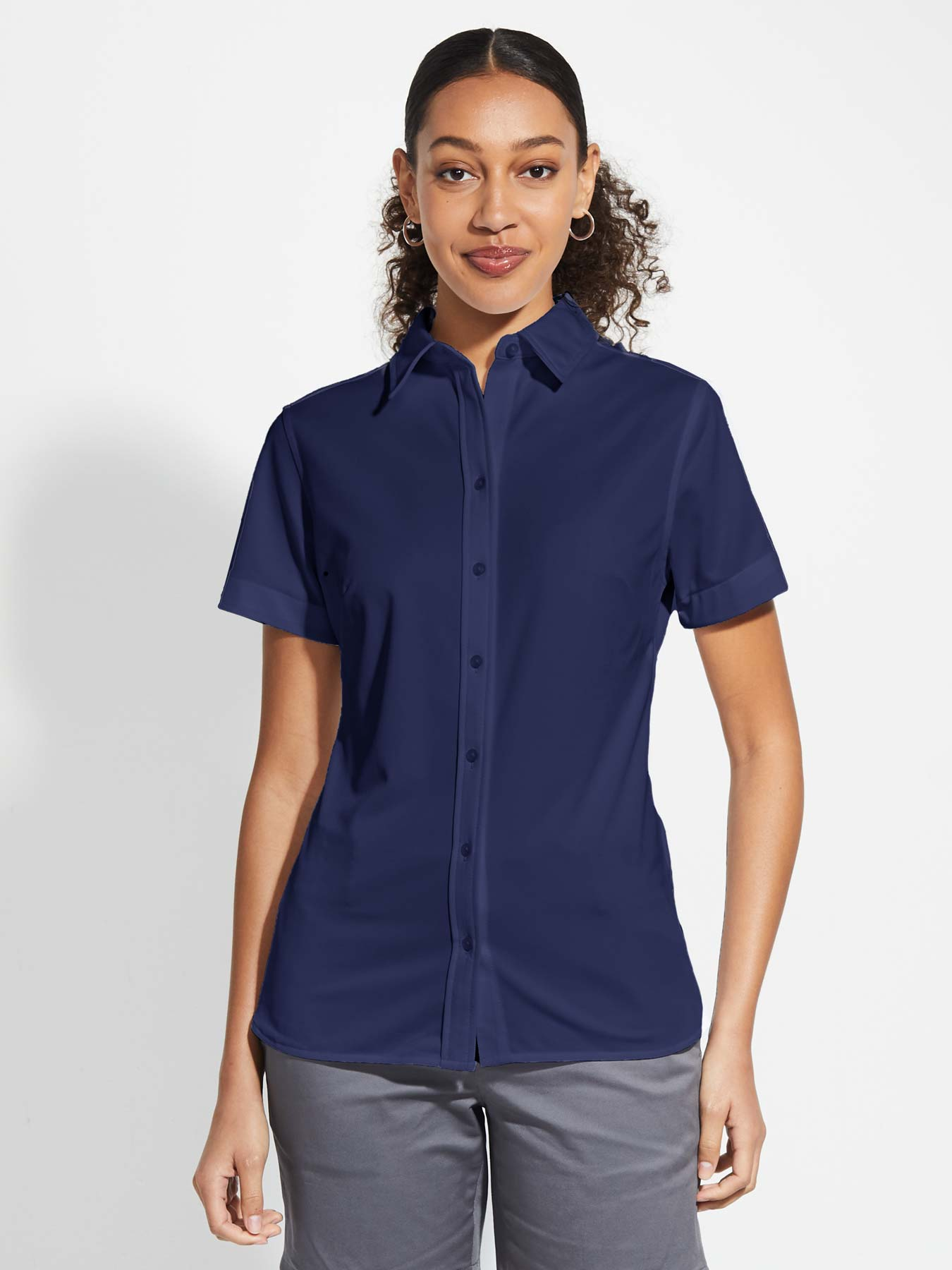 Ladies' X1 Performance Knit Shirt Short Sleeve - Dark Navy