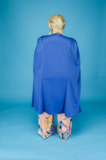 Blue Long Hero Cape Blazer