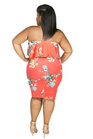 Floral Carmen Swirl Dress