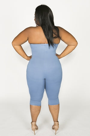 Royal Blue Keisha Tube Capri Catsuit
