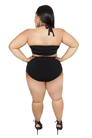 Black Halter 2Pc Swimwear