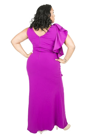 Magenta Amy Split Gown