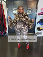 Brown Raleigh Animal Print Catsuit