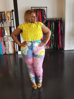 Pastel Colorful High Waist Jeans
