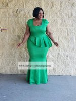 Green LeAnn Peplum Dress