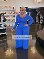 Royal Blue Kifini Wide Leg Jumpsuit