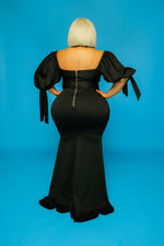 Black Zaya Puff Sleeve Dress