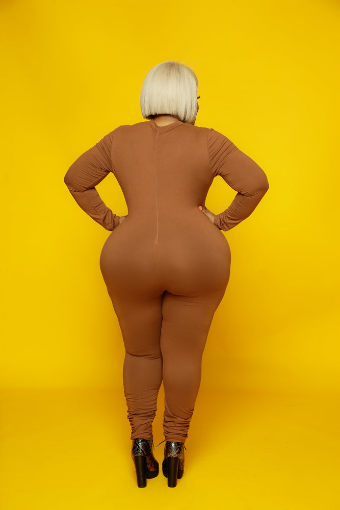 Brown Lonnie Catsuit